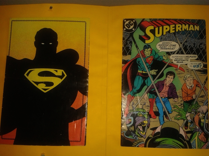 Back and front covers of Bill Nimmo's copy of Bradman Superman 1988