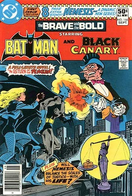 Nemesis (Tom Tresser): First Appearance, Brave and the Bold #166. Click for value