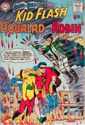 Brave and the Bold #54 (July, 1964): First Appearance of the Yet-Unnamed Teen Titans. Click for value