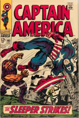 Captain America #102—The Sleeper Strikes. Click for value