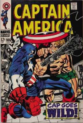Captain America #106—Cap Goes Wild. Click for value