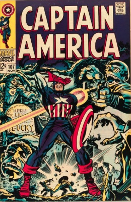 Captain America #107—Here Lies Bucky. Click for value