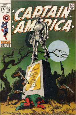 Captain America #113—the graveyard issue. Click for value
