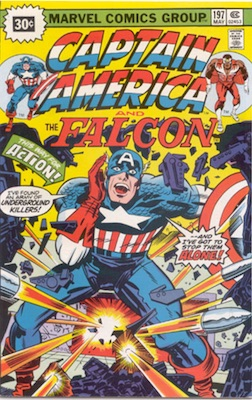 Captain America #197 Marvel 30c Price Variant May, 1976 Regular Blurb