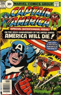 Captain America #200 Marvel 30 Cent Price Variant August, 1976. Circle Blurb