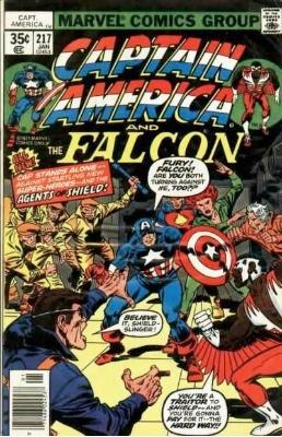 Captain America #217, 1st Marvel Man. Click for values