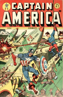 Captain America WW2 cover, issue #47. Click for values