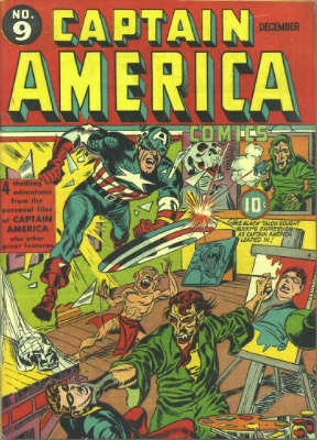 Origin and First Appearance, Black Talon, Captain America Comics #9, Marvel Comics 1941. Click for value