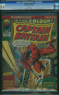 Captain Britain #8 is a surprisingly tough book in CGC 9.8. Prices match this scarcity, but we cannot recommend any other grade as an investment. Click to buy a copy