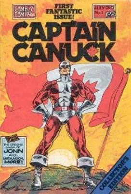 Origin and First Appearance, Captain Canuck, Captain Canuck #1, Comely Comics, 1975. Click for value