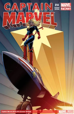Captain Marvel #14 (2013) Variant Edition. 1st Cameo of Kamala Kahn as Ms. Marvel. Click for value