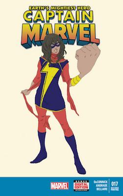 Captain Marvel #17 (2013) 2nd Printing. 1st Kamala Kahn as Ms. Marvel. Click for value