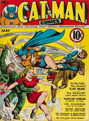 Cat-Man Comics #1: first in stand-alone series. Click for current values.