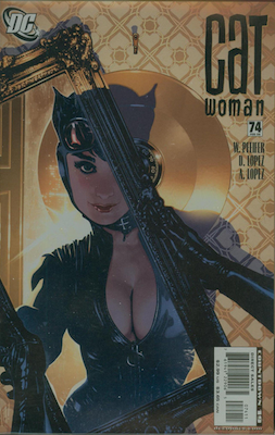 Catwoman #74: classic Adam Hughes cover. Click for values