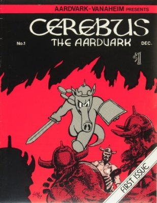 Cerebus #1 (December 1977): Origin and First Appearance, Cerebus. A very rare Bronze Age comic book in high grade. Click for values