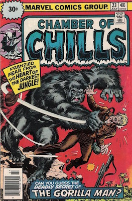 Chamber of Chills #23 30c Price Variant July, 1976. Starburst Blurb