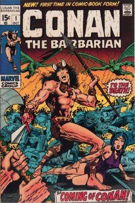 Origin and First appearance of Conan the Barbarian in Conan the Barbarian #1. Click for value