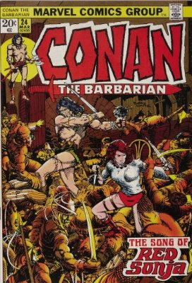 Conan the Barbarian #24, 1st Red Sonja Cover. Click for values