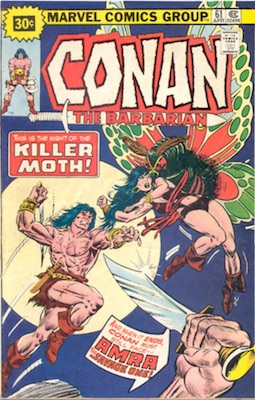Conan the Barbarian #61 30 Cent Price Variant April, 1976 Starburst Blurb