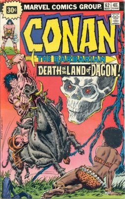 Conan #62 30c Price Variant May, 1976. Starburst Blurb