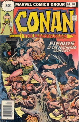 Conan #64 30 Cent Variant July, 1976. Starburst Blurb