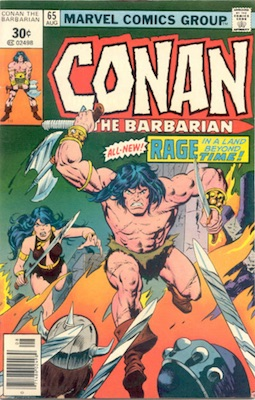 Conan the Barbarian #65 30 Cent Marvel Price Variant August, 1976. Square Price Box