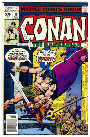Conan the Barbarian #76 Marvel 35 Cent Variant Edition