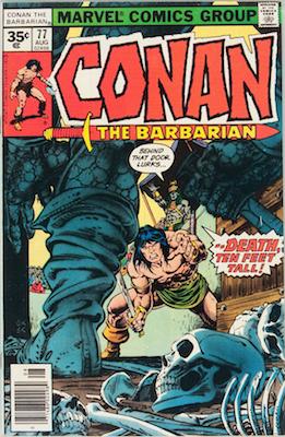 Conan the Barbarian #77 Marvel 35c Price Variant