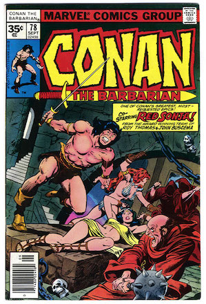 Conan the Barbarian #78 Marvel 35 Cent Variant Edition