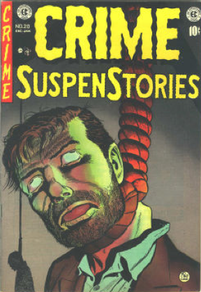 Valuable horror comics #7: Crime SuspenStories #20, Hanged men on front cover! Click for value