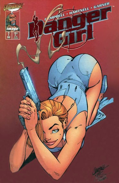 #3: Danger Girl 2 Ruby Red Smoking Gun Variant, Campbell (1998). Click for values