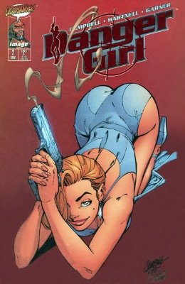 Danger Girl #2 (1998): Ruby Red Smoking Gun variant cover. Click for values