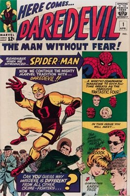 First Appearance, Daredevil (Silver Age), Daredevil #1, Marvel Comics, 1964. Click for values