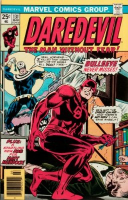 Origin and First Appearance, Bullseye, Daredevil #131, Marvel Comics, 1976. Click for value
