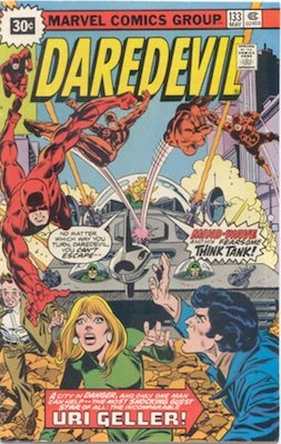 Daredevil #133 30 Cent Price Variant May, 1976. Starburst Blurb