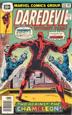 Daredevil #134 Marvel Price Variant June, 1976 Starburst Blurb