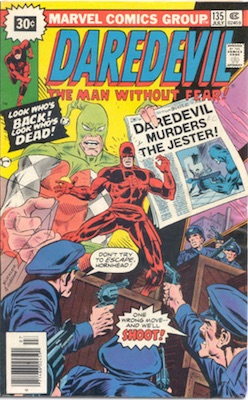 Daredevil #135 30c Marvel Price Variant July, 1976 Starburst Blurb