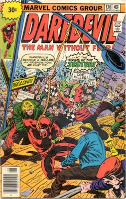 Daredevil #135 30c Marvel Price Variant July, 1976 Starburst Flash