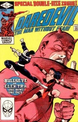 Daredevil #181 (Marvel, 1982): First Punisher / Daredevil comic; Death of Elektra. Click for values
