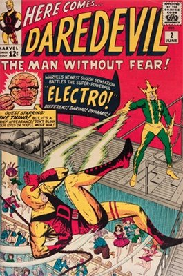 Daredevil #2 (June1964 ): Electro/Fantastic Four Crossover. Click for values
