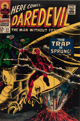 Click here to check the value of Daredevil Comic #21