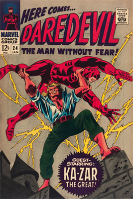 Click here to check the value of Daredevil Comic #24