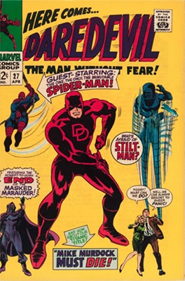 Daredevil #27, Spider-Man Crossover. Click for values