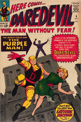 Hot Comics #72: Daredevil #4, 1st Purple Man. Click to buy a copy