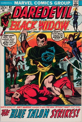 Daredevil and the Black Widow #92 (October 1972): Black Widow Gets Co-Star Status. Click for values