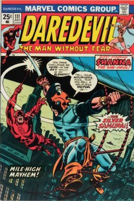 Daredevil #111: First Appearance of the Silver Samurai (Villain in The Wolverine movie). Click for values