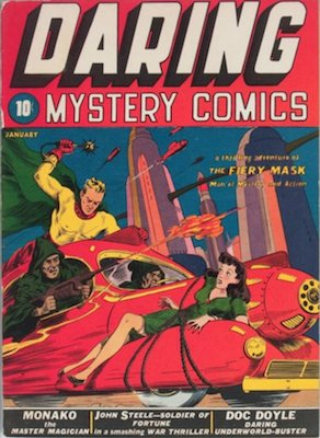 Daring Mystery Comics #1: All Daring Mystery issues are rare comic books that you will seldom see