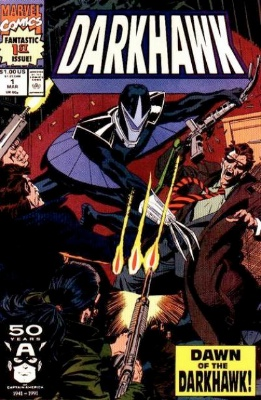 Origin and First Appearance: Darkhawk, Darkhawk #1, Marvel Comics, March, 1991. Click for valuation