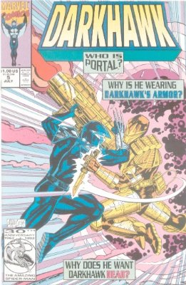 Origin and First Appearance, Portal, Darkhawk #5, Marvel Comics, 1991. Click for value