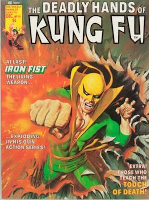 Deadly Hands of Kung-Fu #19, 1st White Tiger (Iron Fist). Click for values